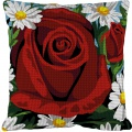 Kit 40/40 coussin soudan grosse trame Rose rouge - 150