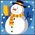 Kit canevas bonhomme de neige enfant 20/20 - 150