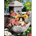 Canevas 40/50 pénélope antique fontaine surprise - 150
