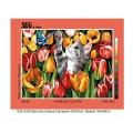 Canevas 40/50 pénélope antique dans les tulipes - 150