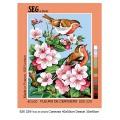 Canevas 40/50 pénélope antique fleurs de cerisiers - 150
