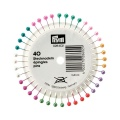 Épingle tête perle multicolor rosace 40 - 17