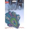 Motif brode jeans fantaisie avec paillettes - 17