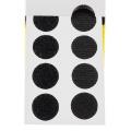 Pastille de la marque Velcro® adhésive 20mm noir - 175
