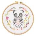 Sacha le panda kit à broder - 215