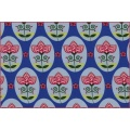 Cotton jersey flower medallion bluex - 22