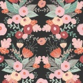 Tissu Panduro design 140 cm kurbits flower grey - 26