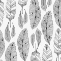 Tissu Panduro Design 140 cm doodling feather - 26
