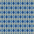 Tissu panduro design knit rhomb blue - 26