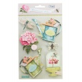 Stickers 3d gardenparty/6 pc - 26