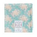 Tissu tilda 50/55cm white flower teal - 26