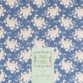 Coupon Tilda 50x55 cm white flower blue - 26