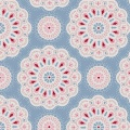 Tissu Tilda 110cm-1 metre- doilies light blue - 26