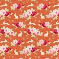 Tissu tilda 110 cm rabbit & roses ginger 5 mètres  - 26