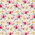 Tissu tilda 110 cm rabbit & roses slate 5 mètres - 26