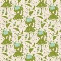 Tissu tilda 110 cm x 5 m circus life green - 26