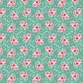 Tissu tilda 1m x 110 cm clown flower teal - 26