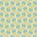 Tissu tilda 1m x 110 cm clown flower green - 26