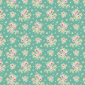 Tissu tilda 1m x 110 cm first kiss teal - 26