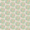 Tissu 50x55 cm flower nest teal   - 26