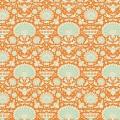 Tissu 50x55 cm garden bees ginger - 26