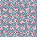 Tissu tilda 50x55 cm clown flower blue - 26