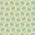 Tissu tilda 50x55 cm clown flower green - 26