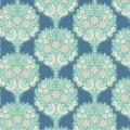 Tissu tilda 1m x 110cm flower tree blue - 26