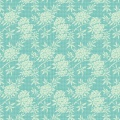 Tissu tilda 5m x 110 cm flower bush teal - 26