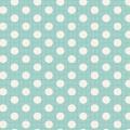 Tissu tilda 1mx110 cm turquoise pois moyens - 26