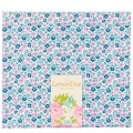 Tissu tilda 50x55 cm lemontree flowerfield blue - 26