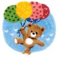 Tapis modelé au point noué ourson avec ballons - 4