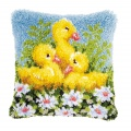 Coussin au point noué canards - 4