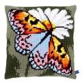 Coussin au point de croix papillon - 4