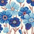 Diamond painting carte de voeux kitanémones bleues - 4