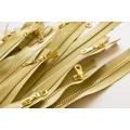 Lot lurex or fermeture spirale et moulée 6 mm - 42