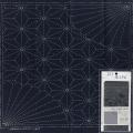 Coupon tissu sashiko navy 31x31 cm 100% coton - 468