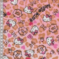 Tissu Hello Kitty heart leopard 100%coton L108cm - 468