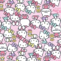 Tissu Hello Kitty pause rose 100%coton L109cm - 468