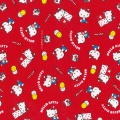 Tissu Hello Kitty okashi rose 100%coton L109cm - 468