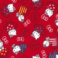 Tissu Hello Kitty candy rouge 100%coton L109cm - 468