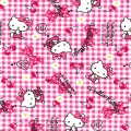 Tissu Hello Kitty ribbon cherry 100%coton L109cm - 468