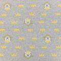 Tissu sweat kiyohara lion 83cm gris - 468