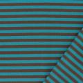 Tissu jersey marron/turquoise laize 85cm 100%coton - 468