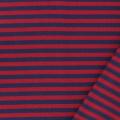 Tissu jersey marine/rouge laize de 85 cm 100%coton - 468