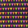 Toile motif fanion 100%cot l110cm-marine-multi - 468
