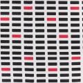 Toile motif bloc 100%cotl110cm-blanc-marinerouge - 468