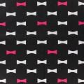 Toile motif noeud 100%cot-l110cm-marine-blancrouge - 468