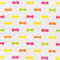 Toile motif noeud 100%cot-l110cm-blanc-multicolor - 468
