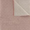 Tissu Kiyohara double gaze chambray à pois rouge - 468